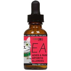 EASE - Full Spectrum Hemp CBD Oil for Cats - 550mg/2oz.