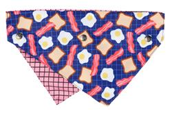 Bacon & Eggs - Reversible Collar Bandana with Studs