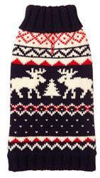 Fairisle Moose Navy Sweater