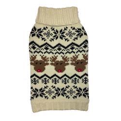 Cream Reindeer Fairisle Sweater