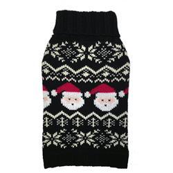 Black Santa Fairisle Sweater