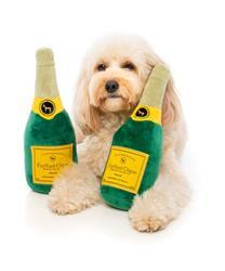 Champagne Dog Toy by FuzzYard