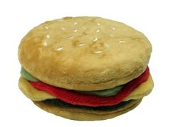 Cheeseburger Super-squeaker Toy - sold in 3s