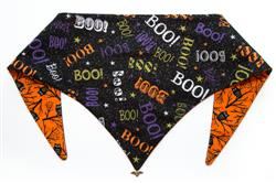 Boo! On Black with Hooters Halloween ArfScarf