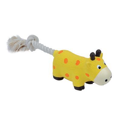 """8"""" Giraffe Li'l Pals® Latex & Rope Toy"""