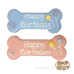 "It's My Bark-Day Birthday Collection, Prepackaged 8"" Birthday Bones, Mixed, 12/Case, MSRP $7.99"