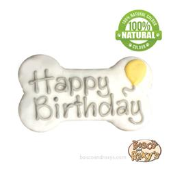 It's My Bark-Day Birthday Collection, 6 Inch White Happy Birthday Bone, 10/Case, MSRP $5.99
