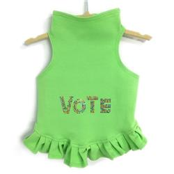 VOTE in Multi-colored Studs Flounce Dress