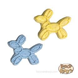 It's My Bark-Day Birthday Collection, Balloon Dog Blue & Yellow, 14/Case, MSRP $3.25