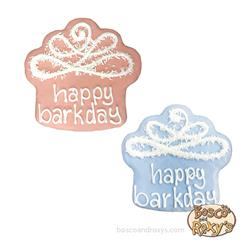 "It's My Bark-Day Birthday Collection, Pre-packaged 4"" Happy Birthday Cupcakes, 10/Case, MSRP $6.99"