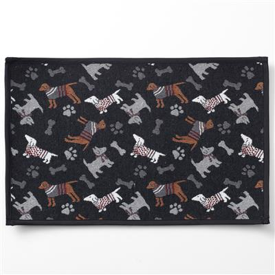 Tossed Dogs, Black Tapestry Placemat