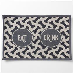 Eat Drink, Gray Tapestry Placemat