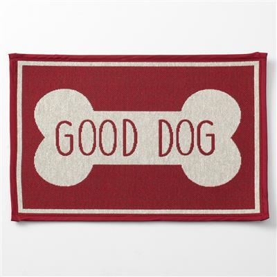 Good Dog Bone, Red Tapestry Placemat