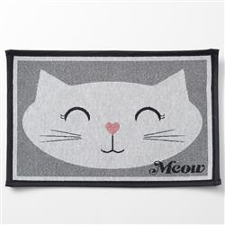 Sleepy Kitty, Gray Tapestry Placemat