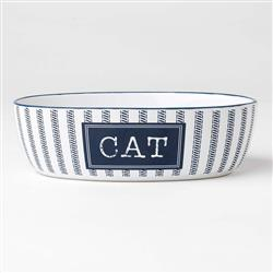 Country Blue Cat Bowl, 2 cups