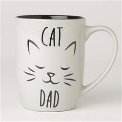 Cat Dad Stoneware Mug, Gray