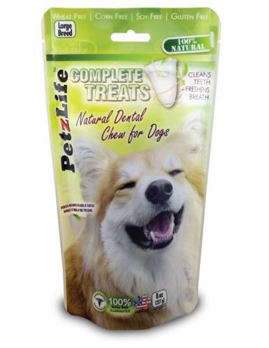 PetzLife Complete Dental Treat LARGE BREED 8oz. - 9 ct