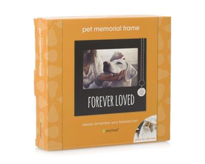 Forever Loved Pet Memorial Collar Tag Frame, Black