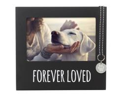 Forever Loved Pet Memorial Collar Tag Frame, Black