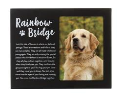 Rainbow Bridge Pet Memorial Frame, Black