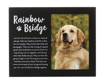 Rainbow Bridge Pet Memorial Frame, Black