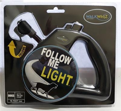 Wigzi WalkWhiz - Follow Me Light Retractable Dog Leash  (DISCONTINUED 03/23/21)