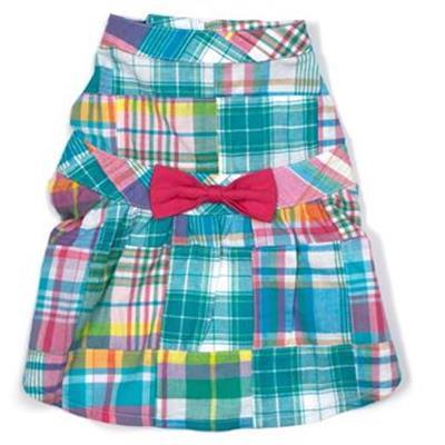 Turq Multi Patch Madras dress