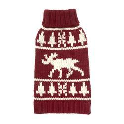 Burgundy Moose Sweater