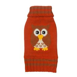Owl Orange/Brown Sweater