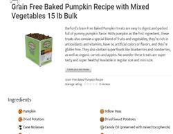sale Pumpkin Grain Free MINIS Baked Dog Treats by Darford