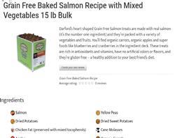 sale SALMON Grain Free regular Baked Dog Treats by Darford  - COPY