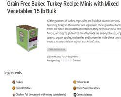 sale Turkey minis  Grain Free Baked Dog Treats by Darford