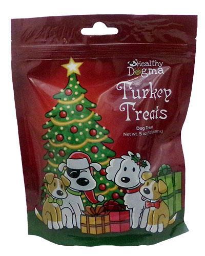 5 oz Holiday Christmas Turkey Treats by Healthy Dogma