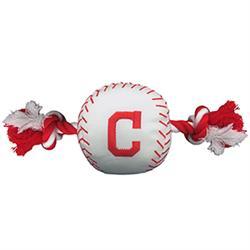 Cleveland Indians Baseball Toy - Nylon w/rope