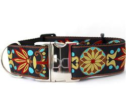 Mandala Star Parisian Deco Extra Wide Dog Collar
