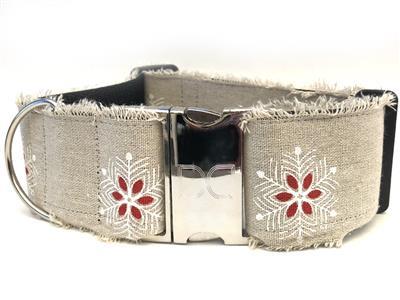 Vintage Noel Extra Wide Dog Collar