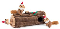 Yule Log Holiday Burrow by Zippy Paws