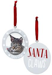 Santa Claws Photo Ornament by Pearhead
