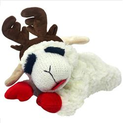 "10.5"" Laying Lamb Chop with Antlers by Multipet"