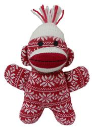 "7.5"" Holiday Baby Sock Monkey Crystal - Red by Lulubelles"