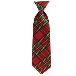 Red Plaid Long Tie by Huxley & Kent