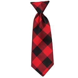 Buffalo Check Long Tie by Huxley & Kent