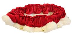 Red Santa Holiday Ruff with Bells  by Huxley & Kent