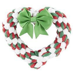 "6"" Holiday Heart Rope Toy by JAX & BONES"