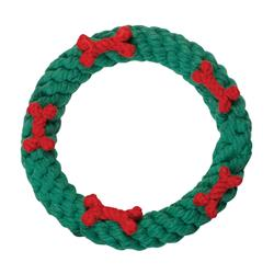 "7"" Holiday Ring Rope Toy by JAX & BONES"