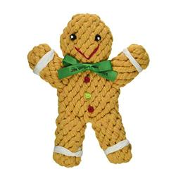 "6"" George the Gingerbread Rope Toy by JAX & BONES"
