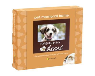 Forever In my Heart Pet Memorial Frame, Espresso