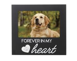 Forever In my Heart Pet Memorial Frame, Black