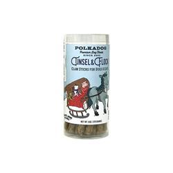 Holiday Tube Clam Tinsel & Flock - 6oz Treats by Polkadog