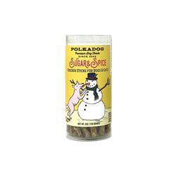 Holiday Tube Chicken & Cranberry Sugar & Spice - 6oz Treats by Polkadog